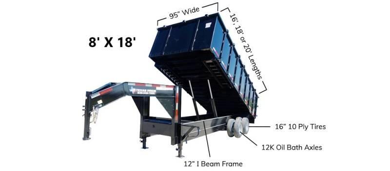 2021 TEXAS PRIDE 8' X 18' Gooseneck 26K for sale at Montgomery Trailer Sales - Texas Pride in Conroe TX
