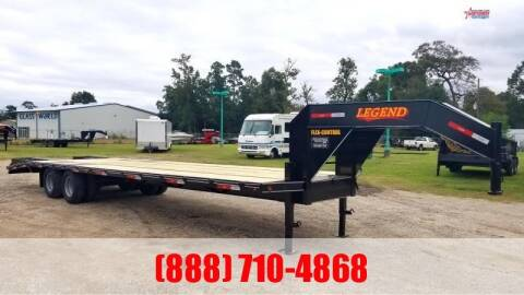 2020 LEGEND 40' Flatbed Gooseneck 24K for sale at Montgomery Trailer Sales in Conroe TX