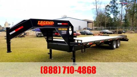 2020 LEGEND 25' Flatbed Gooseneck for sale at Montgomery Trailer Sales in Conroe TX