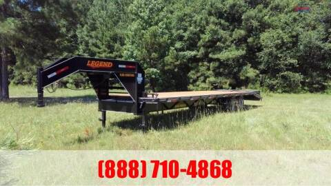 2020 LEGEND 30' Gooseneck Flatbed 16K for sale at Montgomery Trailer Sales in Conroe TX
