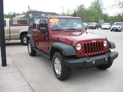 2011 Jeep Wrangler Unlimited for sale in Ellijay, GA
