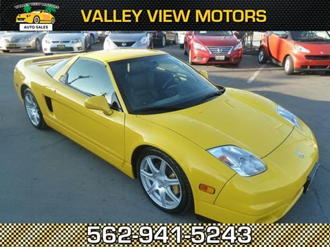 Acura nsx for sale for Valley view motors whittier ca