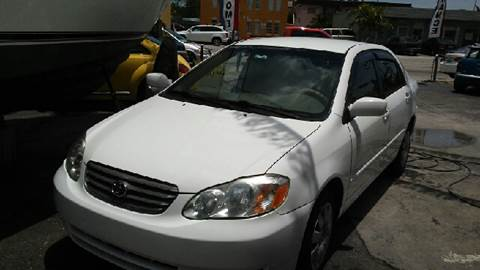 2003 Toyota Corolla for sale at Global Motors in Hialeah FL