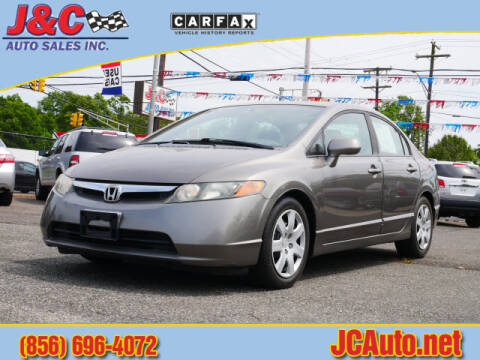 2008 Honda Civic LX for sale at J & C Auto Sales in Vineland NJ