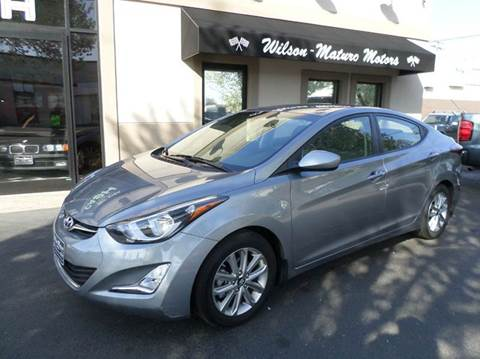 2015 Hyundai Elantra for sale at Wilson-Maturo Motors in New Haven Ct CT