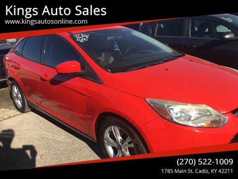 2012 Ford Focus for sale at Kings Auto Sales in Cadiz KY