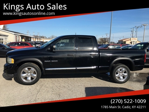 2002 Dodge Ram Pickup 1500 for sale at Kings Auto Sales in Cadiz KY