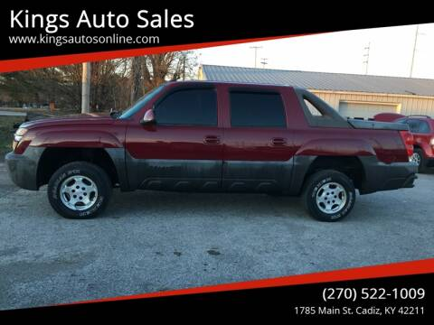 2004 Chevrolet Avalanche for sale at Kings Auto Sales in Cadiz KY