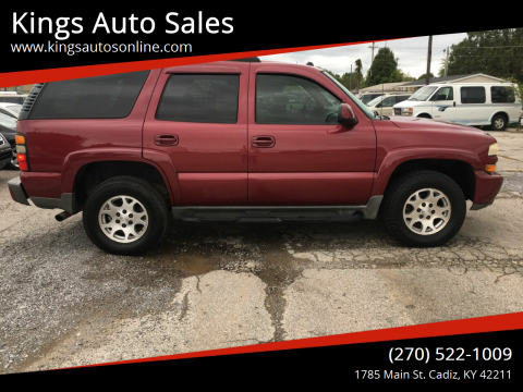 2005 Chevrolet Tahoe for sale at Kings Auto Sales in Cadiz KY
