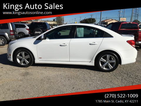 2013 Chevrolet Cruze for sale at Kings Auto Sales in Cadiz KY