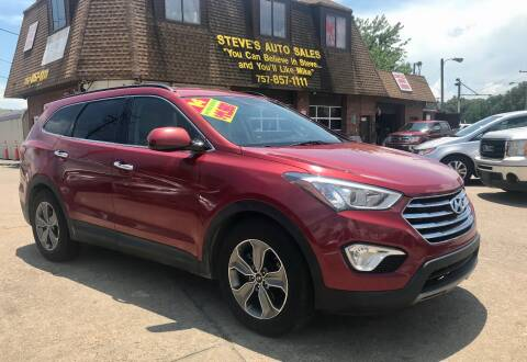 2014 Hyundai Santa Fe for sale at Steve's Auto Sales in Norfolk VA