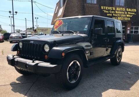 2007 Jeep Wrangler Unlimited for sale at Steve's Auto Sales in Norfolk VA