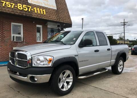 2007 Dodge Ram Pickup 1500 for sale at Steve's Auto Sales in Norfolk VA
