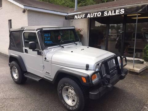 2003 Jeep Wrangler for sale in Roanoke, VA