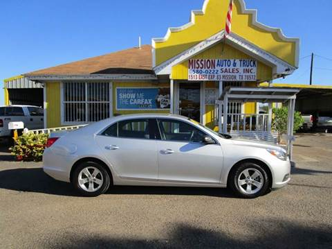 2015 Chevrolet Malibu for sale at Mission Auto & Truck Sales, Inc. in Mission TX