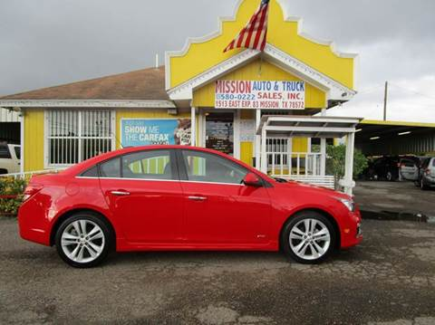 2015 Chevrolet Cruze for sale at Mission Auto & Truck Sales, Inc. in Mission TX