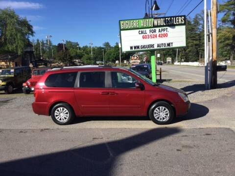 2011 Kia Sedona for sale at Giguere Auto Wholesalers in Tilton NH