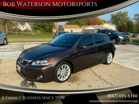 2012 Lexus CT 200h for sale at Bob Waterson Motorsports in South Elgin IL
