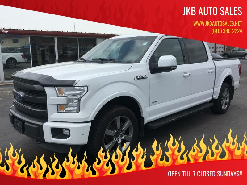 2015 ford f 150 4x4 lariat 4dr supercrew 5 5 ft sb in harrisonville mo jkb auto sales. Black Bedroom Furniture Sets. Home Design Ideas