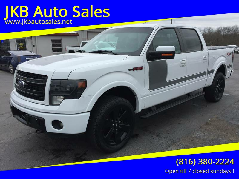 2013 ford f 150 4x4 fx4 4dr supercrew styleside 5 5 ft sb in harrisonville mo jkb auto sales. Black Bedroom Furniture Sets. Home Design Ideas