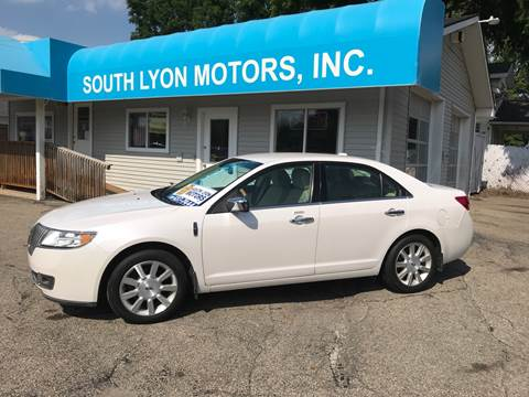 2011 Lincoln MKZ for sale at South Lyon Motors INC in South Lyon MI
