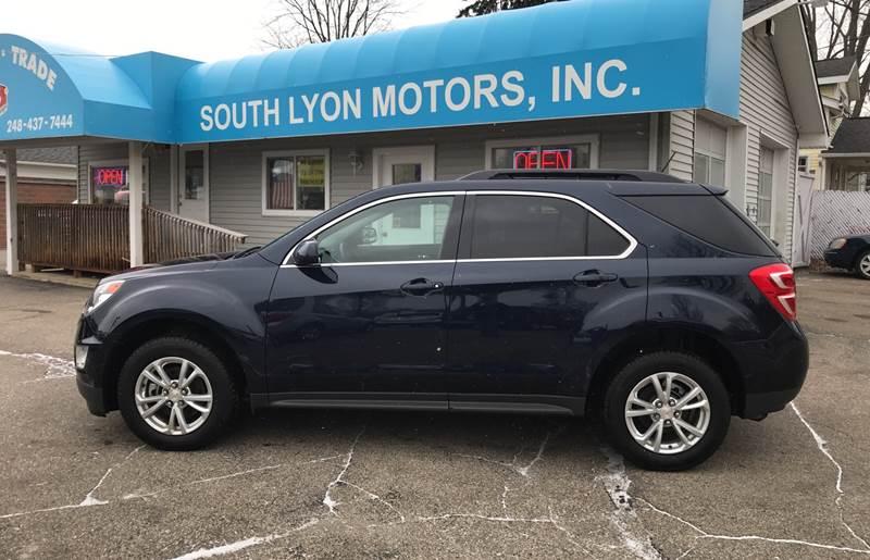 2017 Chevrolet Equinox for sale at South Lyon Motors INC in South Lyon MI