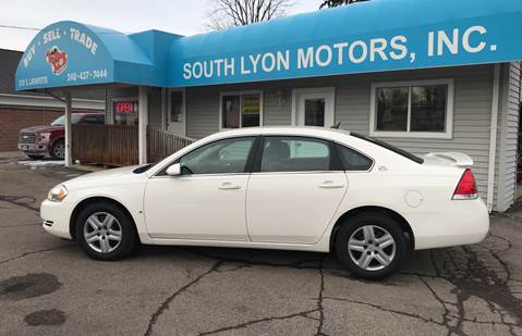 2008 Chevrolet Impala for sale at South Lyon Motors INC in South Lyon MI