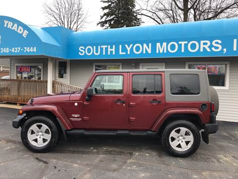 2010 Jeep Wrangler Unlimited for sale in South Lyon, MI