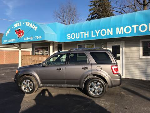2011 Ford Escape Limited for sale at South Lyon Motors INC in South Lyon MI