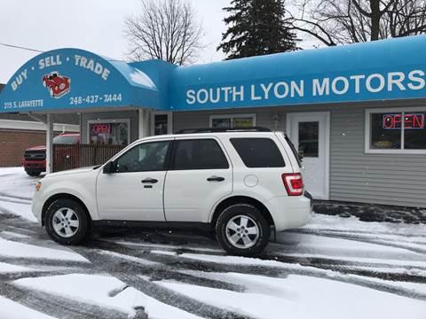 2011 Ford Escape XLT for sale at South Lyon Motors INC in South Lyon MI