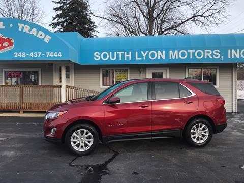 2018 Chevrolet Equinox LT for sale at South Lyon Motors INC in South Lyon MI