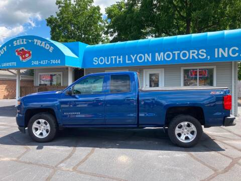 2017 Chevrolet Silverado 1500 for sale at South Lyon Motors INC in South Lyon MI