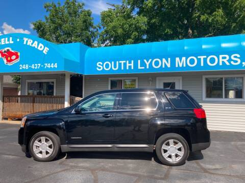 2012 GMC Terrain for sale at South Lyon Motors INC in South Lyon MI
