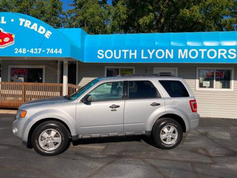 2012 Ford Escape for sale at South Lyon Motors INC in South Lyon MI
