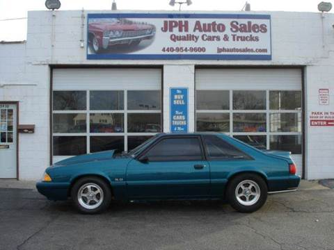 1993 Ford Mustang for sale at JPH Auto Sales in Eastlake OH