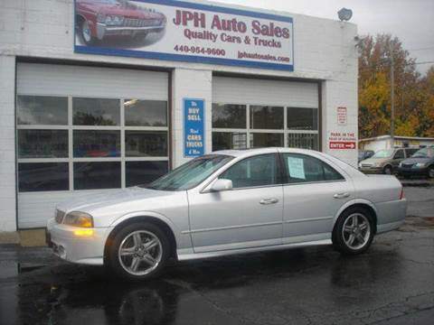 2002 Lincoln LS for sale at JPH Auto Sales in Eastlake OH