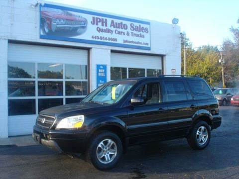 2003 Honda Pilot for sale at JPH Auto Sales in Eastlake OH