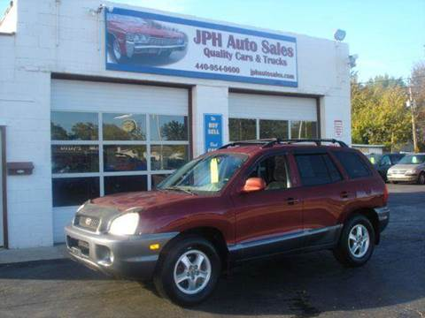 2001 Hyundai Santa Fe for sale at JPH Auto Sales in Eastlake OH