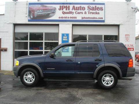 2002 Ford Explorer for sale at JPH Auto Sales in Eastlake OH