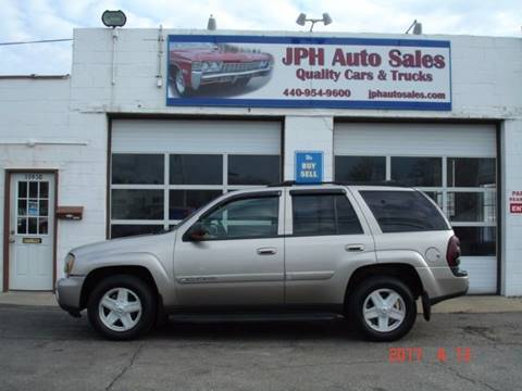 2002 Chevrolet TrailBlazer for sale at JPH Auto Sales in Eastlake OH