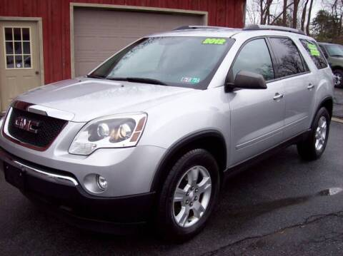 2012 GMC Acadia SLE for sale at Clift Auto Sales in Annville PA