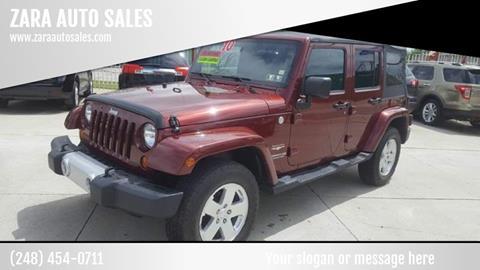 2010 Jeep Wrangler Unlimited for sale in Pontiac, MI