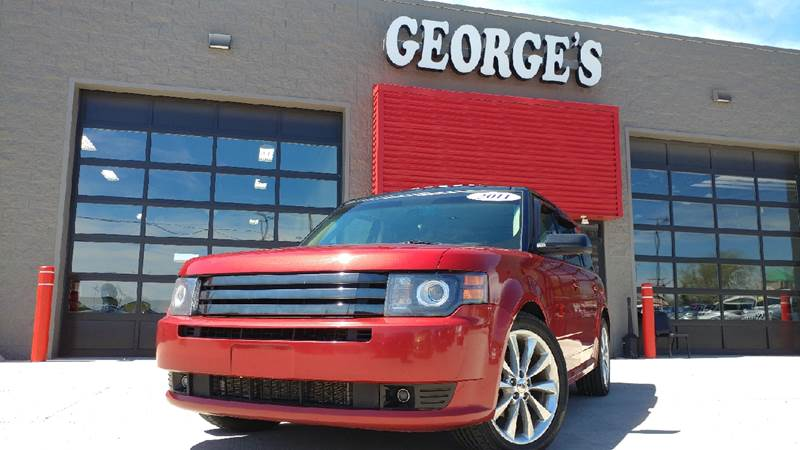 2011 FORD FLEX TITANIUM AWD 4DR CROSSOVER WECO red candy metallic carfax 1 owner and no accidents