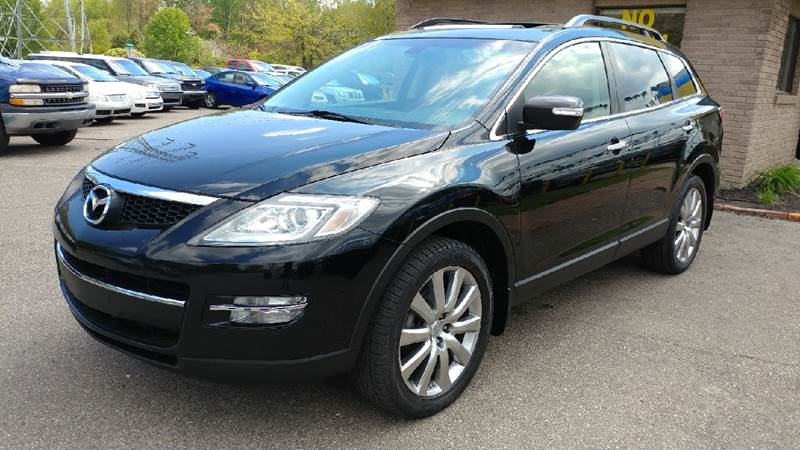 2009 MAZDA CX-9 GRAND TOURING AWD 4DR SUV sparkling black mica carfax no accidents awd runs at f