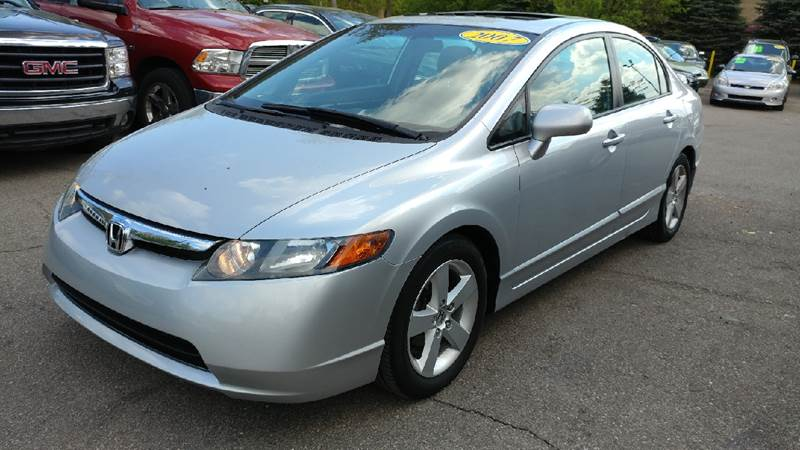 2007 HONDA CIVIC EX 4DR SEDAN 18L I4 5A alabaster silver metallic carfax 1 owner and no accide