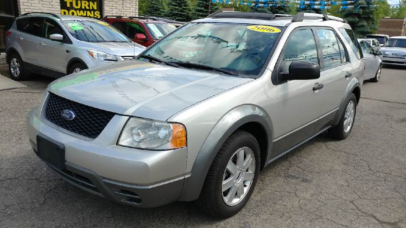 2006 FORD FREESTYLE SE 4DR WAGON silver birch metallic carfax no accidents simple switchgear is