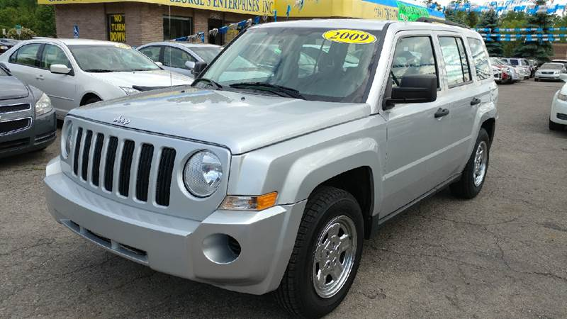2009 JEEP PATRIOT SPORT 4DR SUV bright silver metallic carfax no accidents cloth wheels of fort