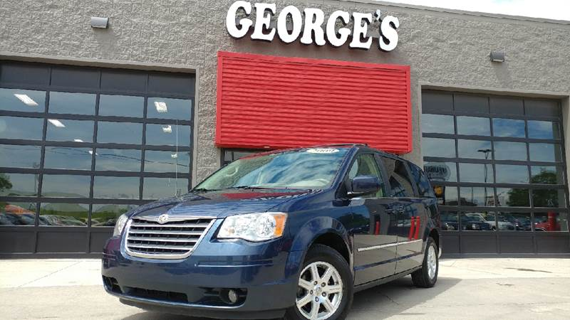 2009 CHRYSLER TOWN AND COUNTRY TOURING MINI VAN 4DR modern blue pearl body side moldings - chrome
