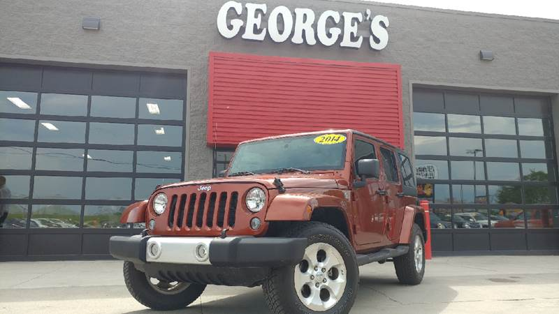 2014 JEEP WRANGLER UNLIMITED SAHARA 4X4 4DR SUV copperhead pearlcoat carfax 1 owner and no acciden