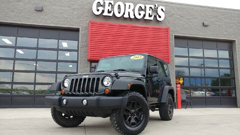 2013 JEEP WRANGLER SPORT 4X4 2DR SUV black door handle color - black front bumper color - black